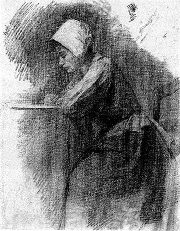 Piet (Pieter Cornelis Mondrian) Mondrian - Menina escrevendo