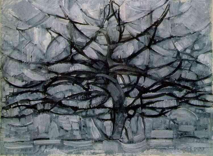 Piet (Pieter Cornelis Mondrian) Mondrian - Árvore II