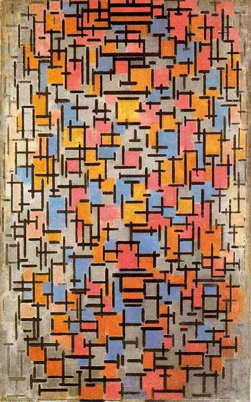 Piet (Pieter Cornelis Mondrian) Mondrian - Composição