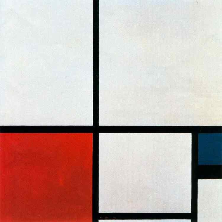 Piet (Pieter Cornelis Mondrian) Mondrian - Composição I
