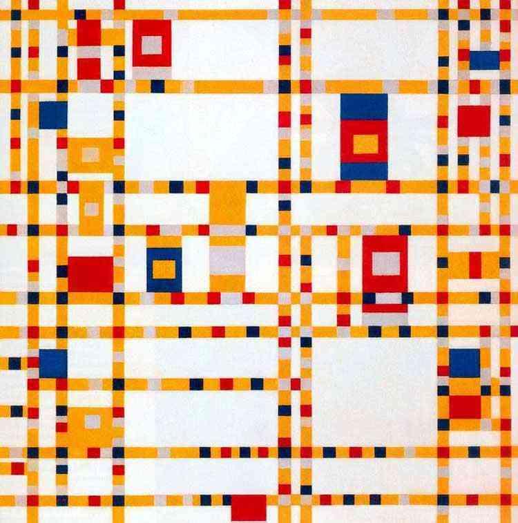 Piet (Pieter Cornelis Mondrian) Mondrian - Broadway Boogie Woogie