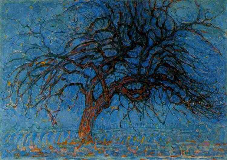 Piet (Pieter Cornelis Mondrian) Mondrian - Árvore vermelha