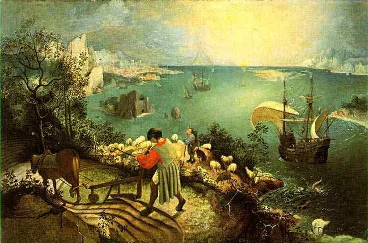 Pieter Brueghel - Paisagem com a queda de Ícaro
