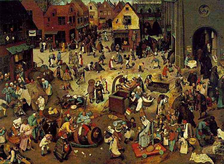 Pieter Brueghel - A luta entre o Carnaval e a Quaresma
