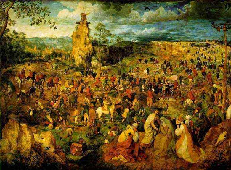 Pieter Brueghel - A procissão para o Calvário