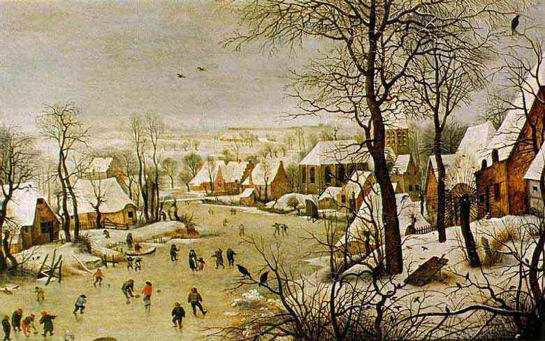 Pieter Brueghel - Paisagem de inverno com uma armadilha de pássaros