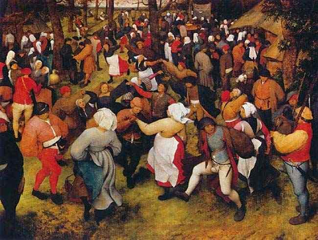 Pieter Brueghel - A dança de casamento ao ar livre
