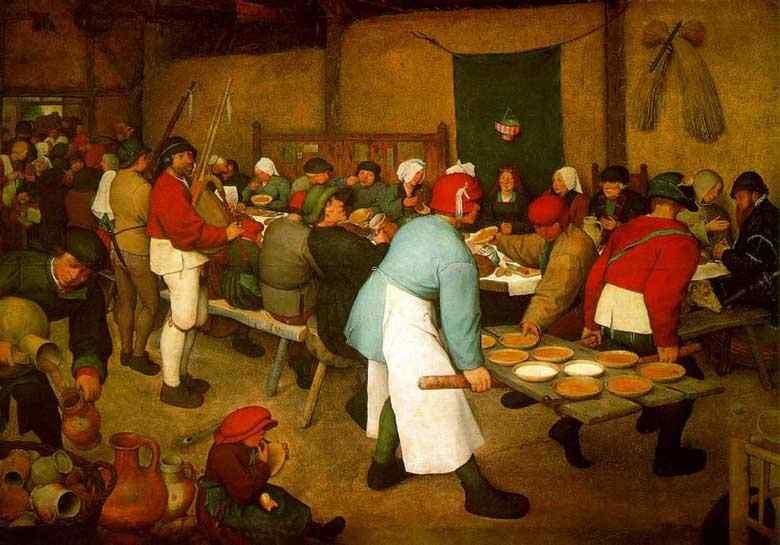 Pieter Brueghel - Casamento camponês