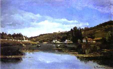 Camille Pissarro - O Marne em Chennevières