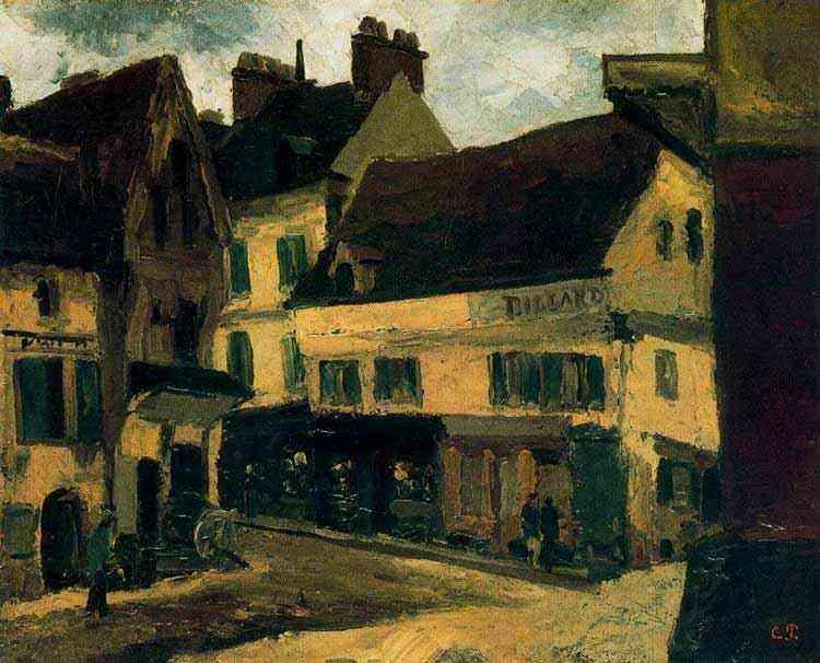 Camille Pissarro - Um quadrado em La Roche-Guyon