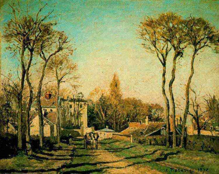 Camille Pissarro - Entrada da aldeia de Voisins