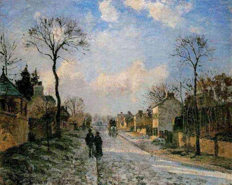 Camille Pissarro - O caminho de Louveciennes