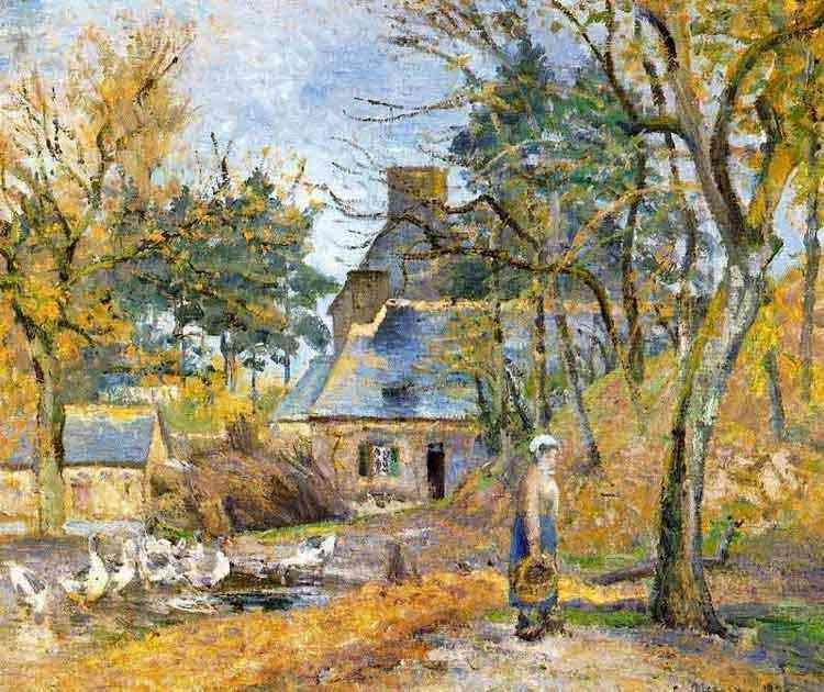 Camille Pissarro - Fazenda em Montfoucault