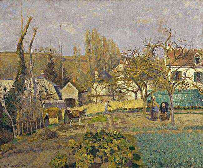 Camille Pissarro - Jardins dacozinha em O