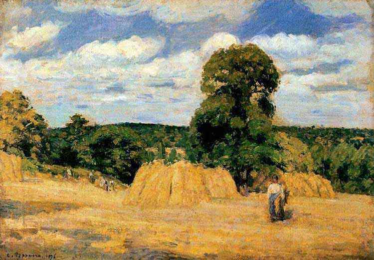 Camille Pissarro - A colheita de Montfoucault
