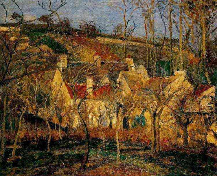 Camille Pissarro - Telhados de telhas vermelhas