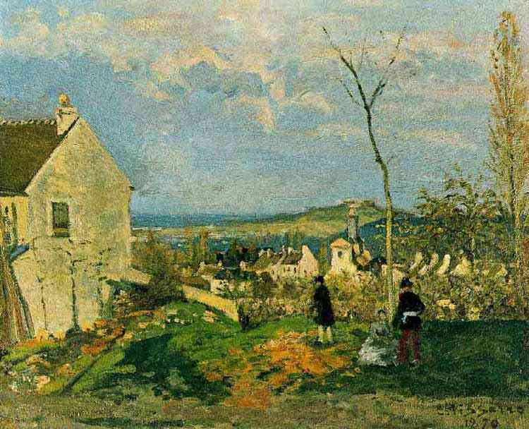 Camille Pissarro - Louveciennes com Monte Valérion
