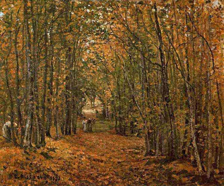 Camille Pissarro - O bosque de Marly