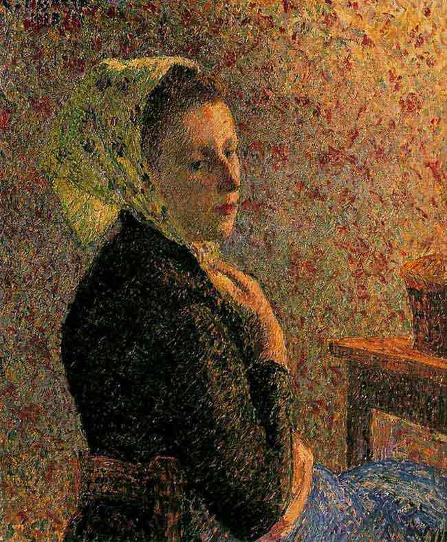 Camille Pissarro - Mulher com lenço verde