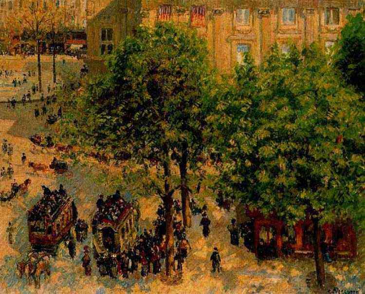 Camille Pissarro - A praça do Teatro francês