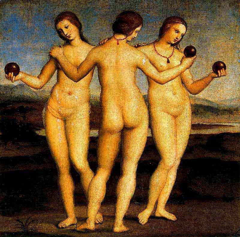Raffaelo Sanzio Raphael - As três graças
