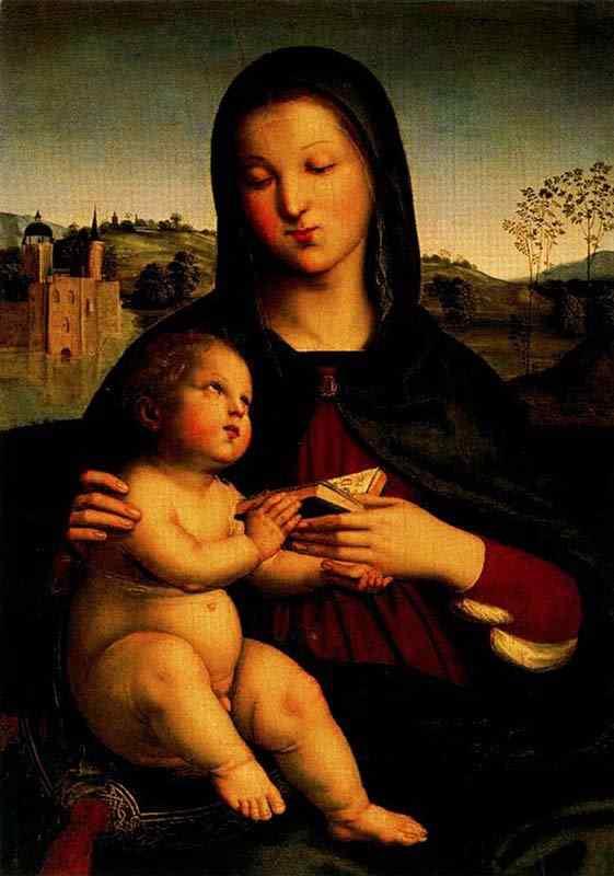 Raffaelo Sanzio Raphael - Madona com o menino
