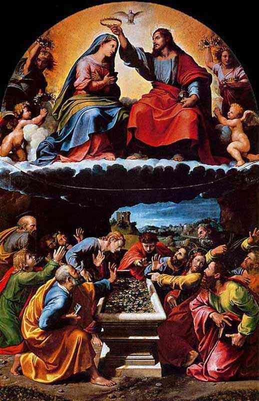 Raffaelo Sanzio Raphael - A coroação da Virgem
