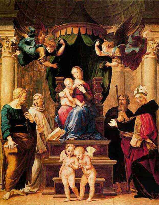 Raffaelo Sanzio Raphael - Virgem de Baldachino