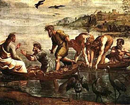 Raffaelo Sanzio Raphael - A pesca milagrosa