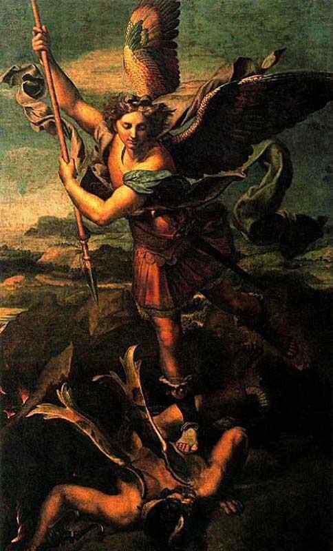 Raffaelo Sanzio Raphael - São Miguel derrota Satanás