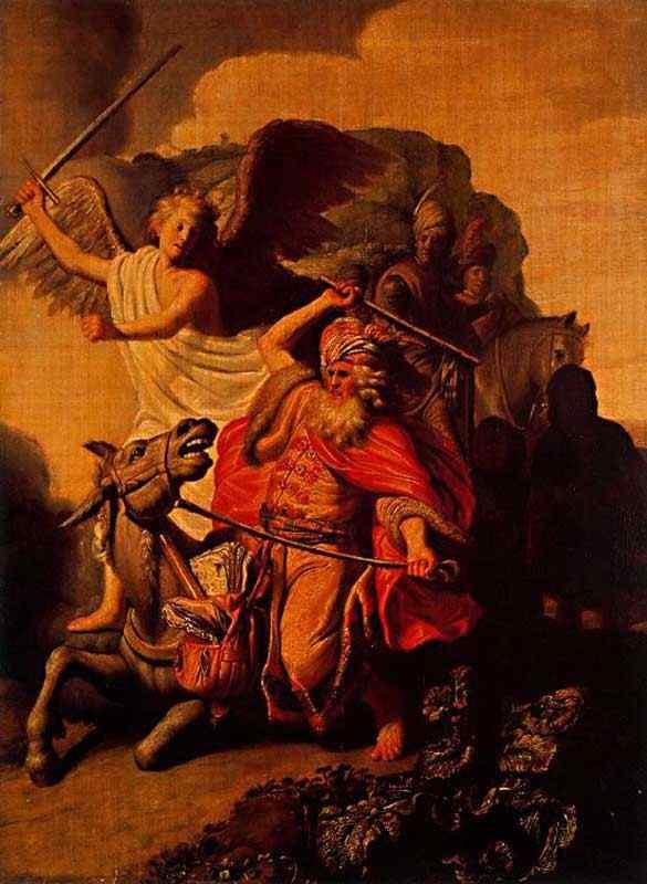 Harmensz van Rijn Rembrandt - O profeta Balaão e o burro