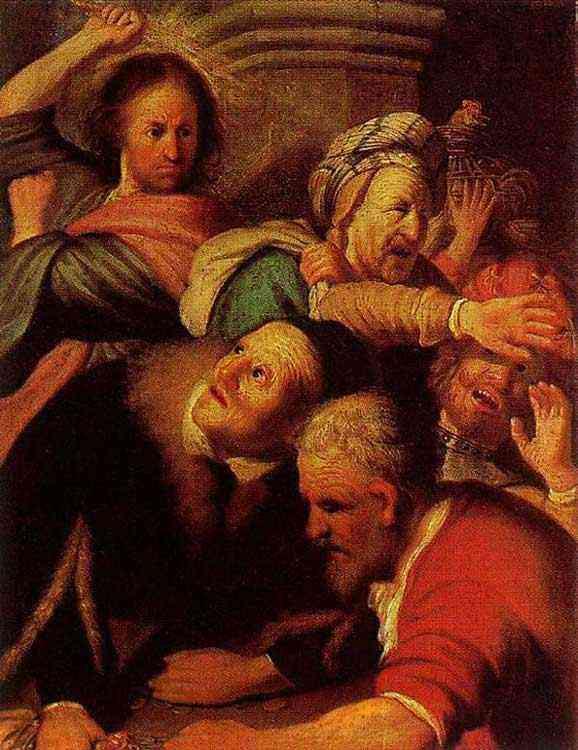 Harmensz van Rijn Rembrandt - Cristo expulsando vendedores do Templo