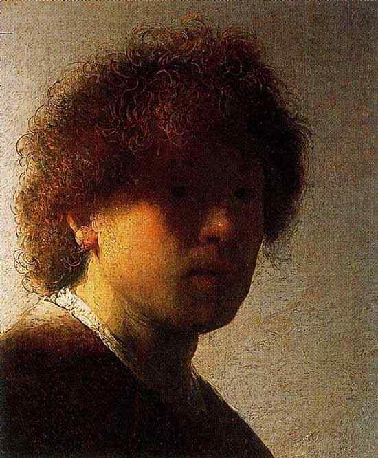Harmensz van Rijn Rembrandt - Auto-retrato com cabelo emaranhado