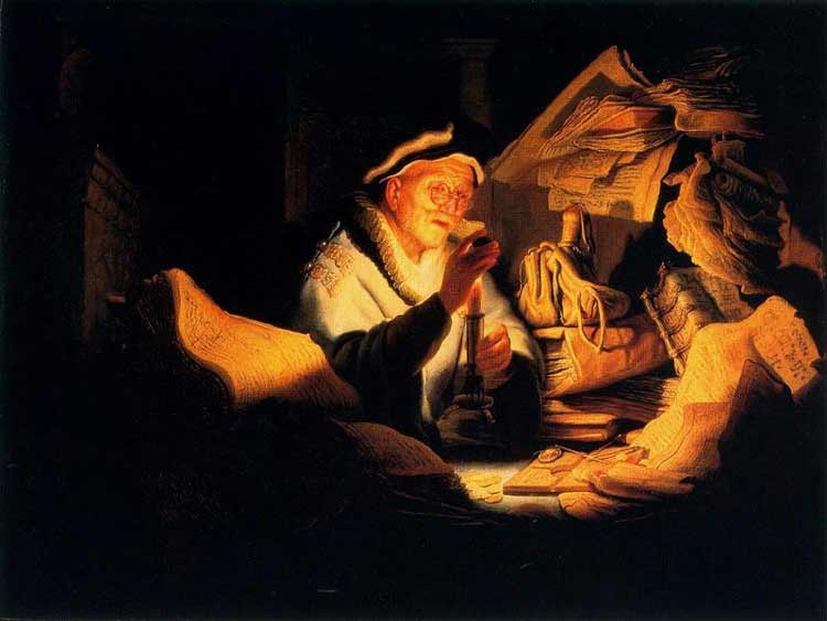 Harmensz van Rijn Rembrandt - Parábola do homem rico