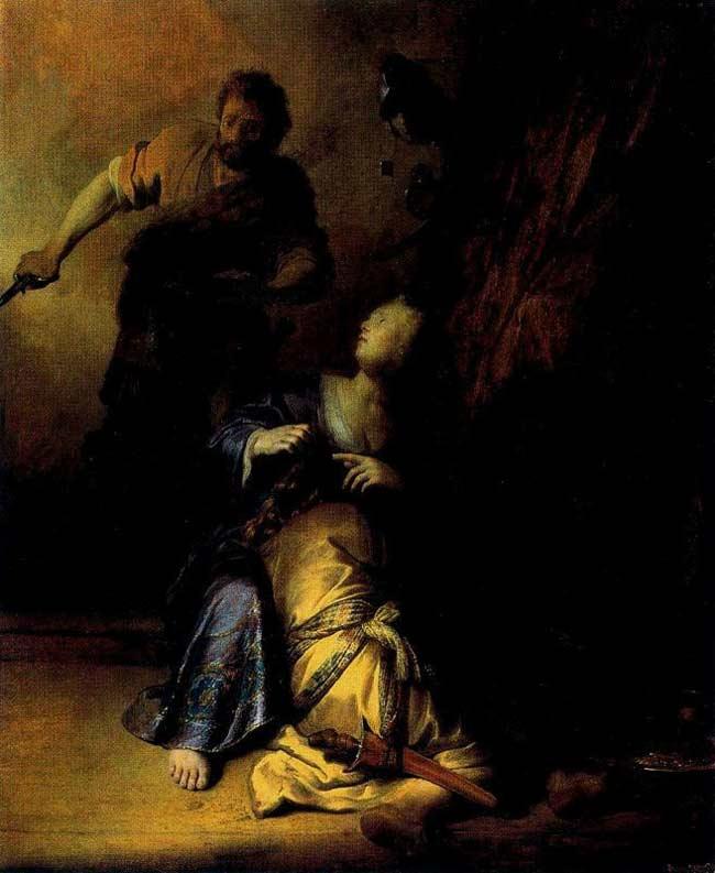 Harmensz van Rijn Rembrandt - Sansão e Dalila