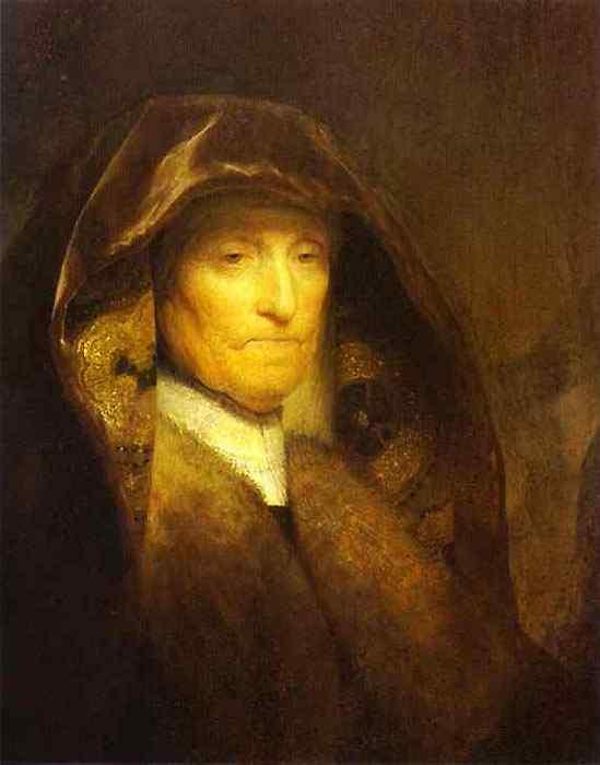 Harmensz van Rijn Rembrandt - Retrato da mãe do artista