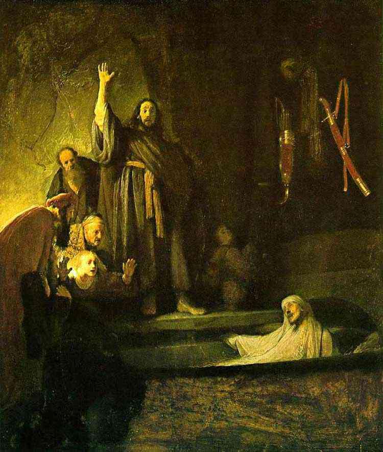 Harmensz van Rijn Rembrandt - A ressurreição de Lázaro