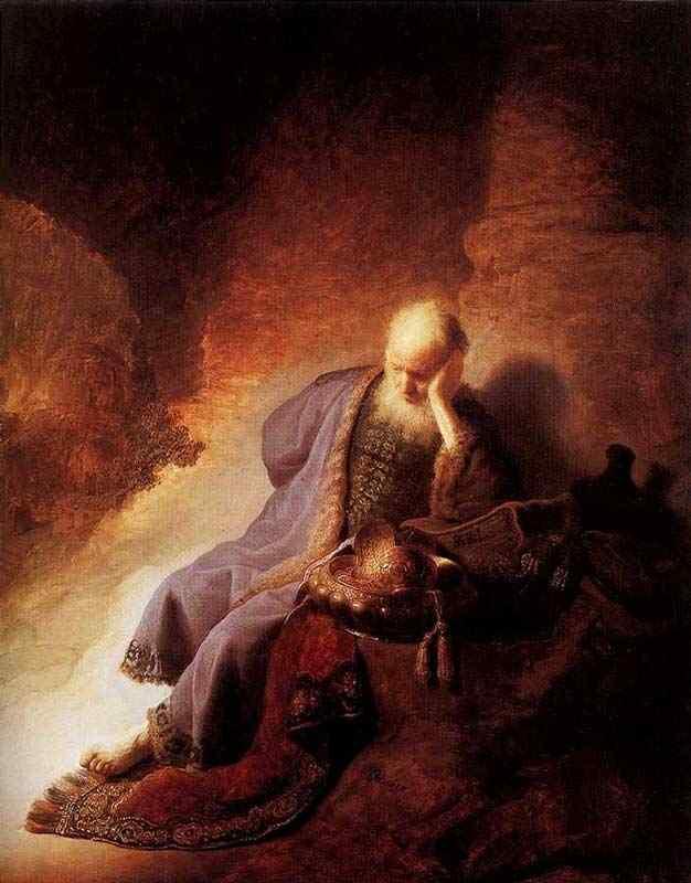 Harmensz van Rijn Rembrandt - Jeremias lamentando a destruição de Jerusalém
