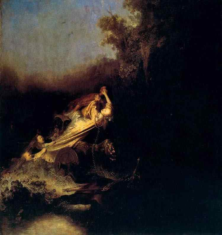 Harmensz van Rijn Rembrandt - O rapto de Proserpina