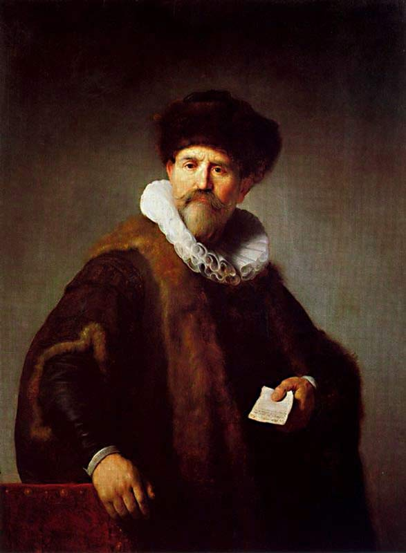 Harmensz van Rijn Rembrandt - O retrato de Nicolaes Ruts