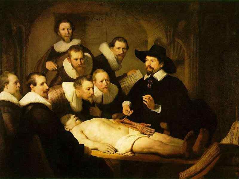 Harmensz van Rijn Rembrandt - Aula de anatomia do Dr. Nicolaes Tulp