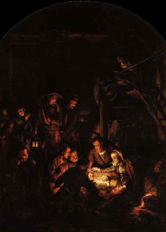 Harmensz van Rijn Rembrandt - Adoração dos pastores