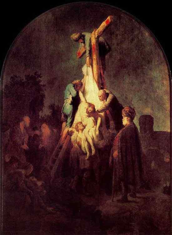Harmensz van Rijn Rembrandt - A descida da cruz