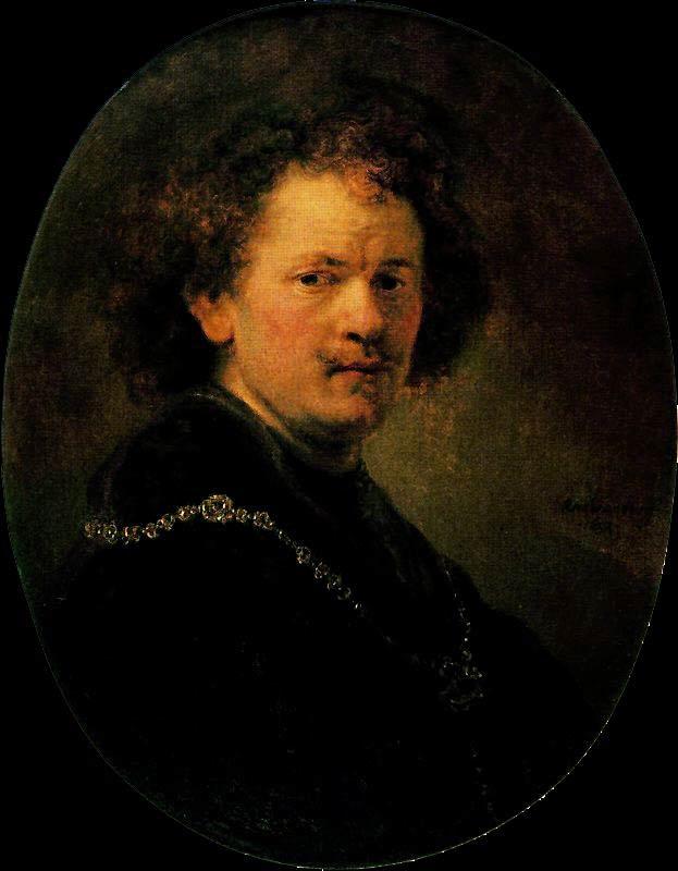 Harmensz van Rijn Rembrandt - Auto-retrato com a cabeça descoberta