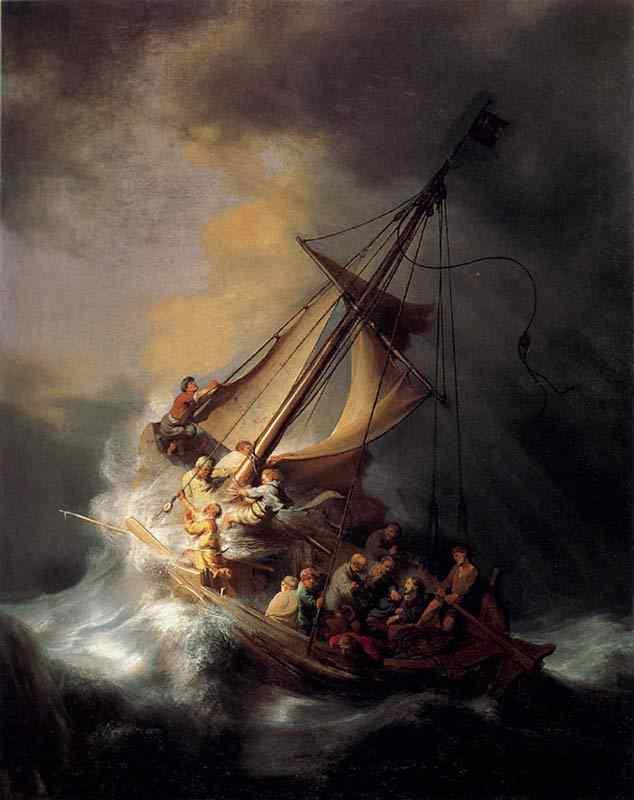 Harmensz van Rijn Rembrandt - Cristo na tempestade sobre o Mar da Galiléia