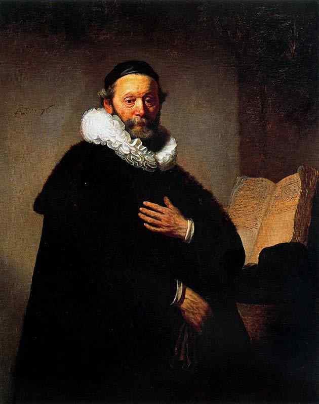 Harmensz van Rijn Rembrandt - Retrato de Johannes Wtenbogaert