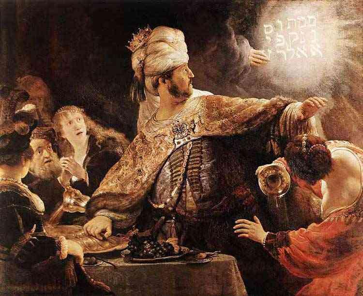 Harmensz van Rijn Rembrandt - A festa de Baltazar