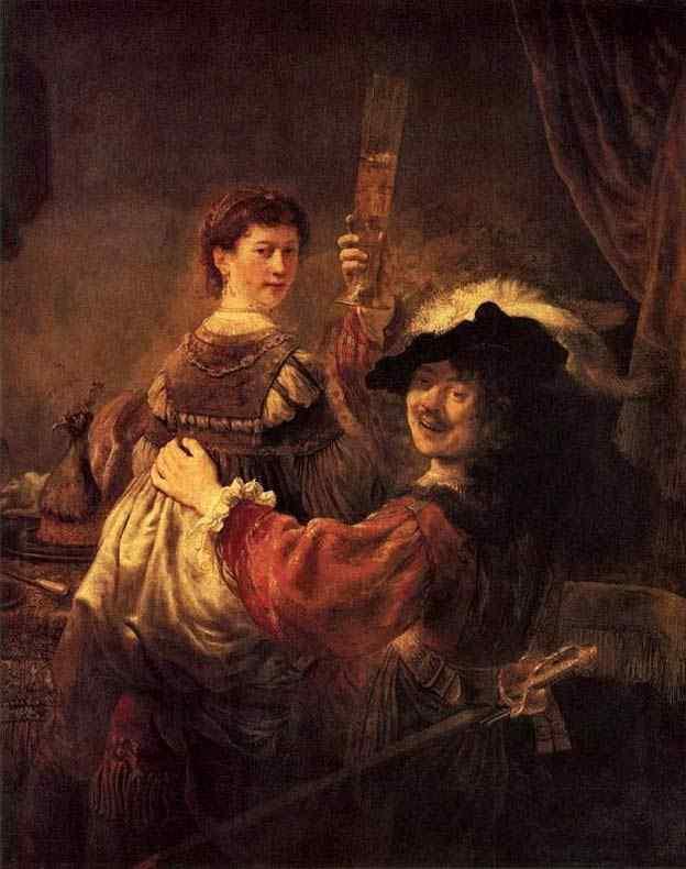 Harmensz van Rijn Rembrandt - Auto-retrato com Saskia