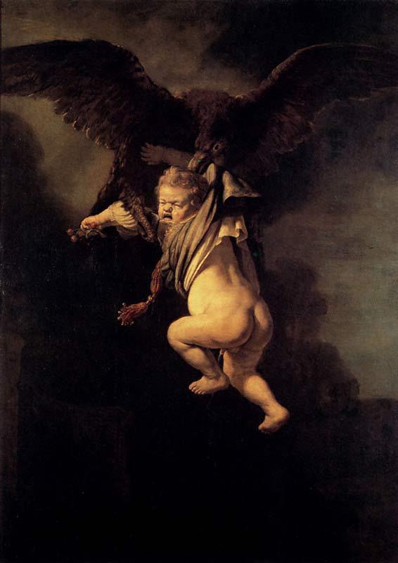 Harmensz van Rijn Rembrandt - O rapto de Ganimedes