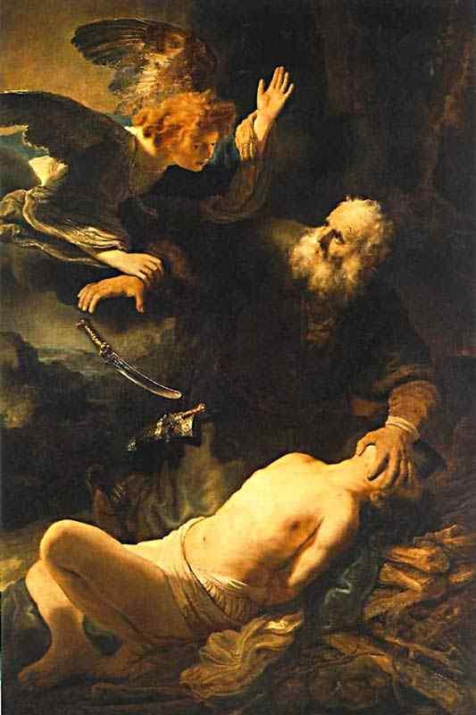 Harmensz van Rijn Rembrandt - O sacrifício de Abraão